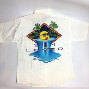 Vintage Sun Lover Florida Keys Button Down Shirt